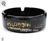 Hotel & Country Club Aladdin Las Vegas Nevada, A Recrion Resort - Gold imprint Glass Ashtray