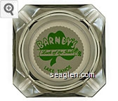 Barney's Luck of the Irish, Lake Tahoe - Green on white imprint Glass Ashtray
