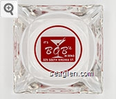 It's Bob's in Reno, 325 South Virginia St. - Red on white imprint Glass Ashtray