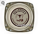 Bill & Effie's, Interstate 80 - 8 Miles West of Reno - Red on white imprint Glass Ashtray