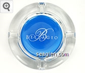 Bellagio - Silver on blue imprint Glass Ashtray