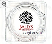 Bally's, Park Place Casino Hotel, Atlantic City - Red and black imprint Glass Ashtray