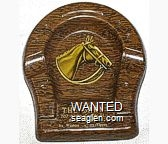The Barn, 207 North Center St., Reno, Nevada, It's Western - It's Yippee - Yellow imprint Metal Ashtray
