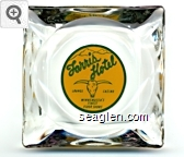 Farris Hotel, Lounge Casino, Winnemucca's Finest Floor Shows - Green on yellow imprint Glass Ashtray