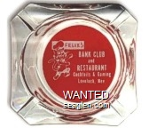 Felix's Bank Club and Restaurant, Cocktails & Gaming, Lovelock, Nev. - White on red imprint Glass Ashtray