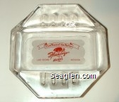 Show Place of the Nation, The Flamingo Hotel, Las Vegas Nevada - Red on white imprint Glass Ashtray