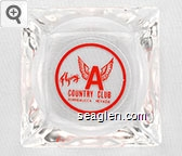 Flying A Country Club, Winnemucca Nevada - Red imprint Glass Ashtray