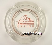 Fort McDowell Casino - Pink imprint Glass Ashtray
