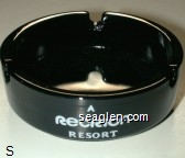 Hotel Fremont, Downtown Las Vegas, A Recrion Resort - White imprint Glass Ashtray