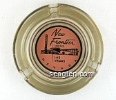 New Frontier Hotel, Las Vegas, Nevada - Black on pink imprint Glass Ashtray