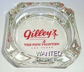 Gilley's, Saloon, Dance Hall & Bar-B-Que, The New Frontier, Las Vegas - Red imprint Glass Ashtray