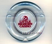 Little Bighorn Casino - Red imprint Glass Ashtray
