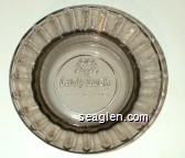 Lady Luck Casino Hotel, 1-800-LADY-LUCK - Molded imprint Glass Ashtray