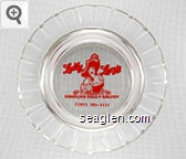 Lucky Lucy's Gambling Hall & Saloon, (702) 385-3131 - Red imprint Glass Ashtray