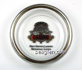 Players Riverboat Casino, Merv Griffin's Landing, Metropolis, Illinois - Black, gold and red imprint Glass Ashtray
