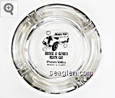 Bonnie & Clyde's Death Car, Primm Valley Resort & Casino - Black imprint Glass Ashtray