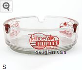 Tahoe Biltmore Lodge/Casino, Crystal Bay, Nev. - Red imprint Glass Ashtray