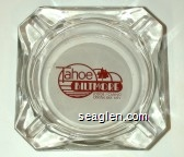 Tahoe Biltmore, Lodge / Casino, Crystal Bay, Nev - Red on white imprint Glass Ashtray