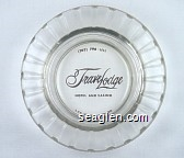 (702)-798-1111, TraveLodge Hotel And Casino, Las Vegas, Nevada - Brown imprint Glass Ashtray