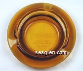 Tropicana, Hotel and Country Club, Las Vegas, Nevada - Molded imprint Glass Ashtray