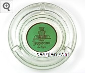 Hotel Tropicana, Las Vegas - Gold on green imprint Glass Ashtray