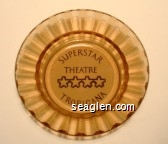 Superstar Theatre, Tropicana - Brown on white imprint Glass Ashtray