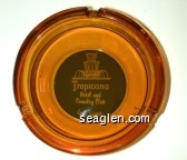Tropicana Hotel and Country Club, Las Vegas - White on green imprint Glass Ashtray