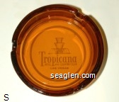 Tropicana Hotel and Country Club, Las Vegas - White imprint Glass Ashtray